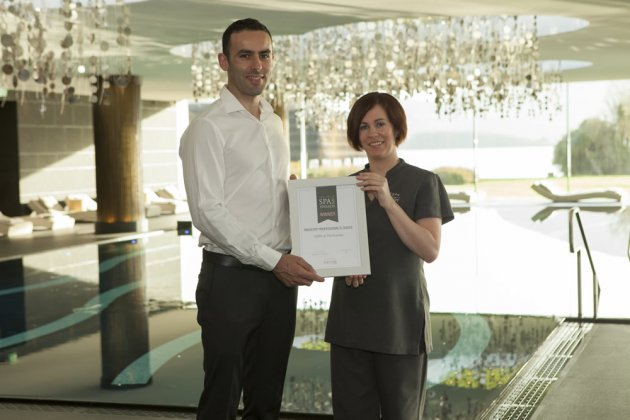 Juan Cullen, Director of The Irish Spa Awards and Nicole Barry, Manager of ESPA at The Europe