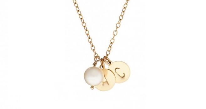 Chupi Initials Gold necklace