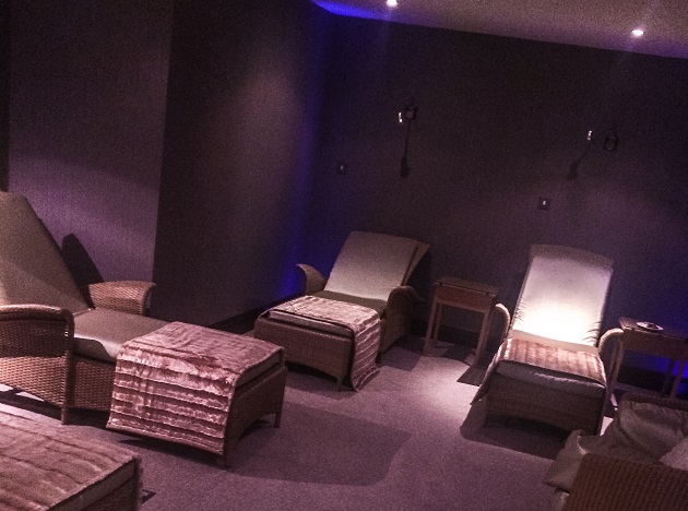The main relaxation room at Ciuin Spa