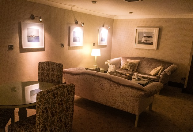 Our private, cosy relaxation suite