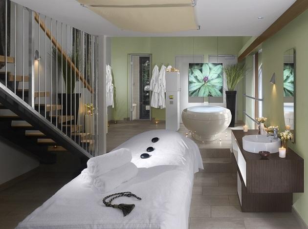 A treatment room at Farnham Estate Spa