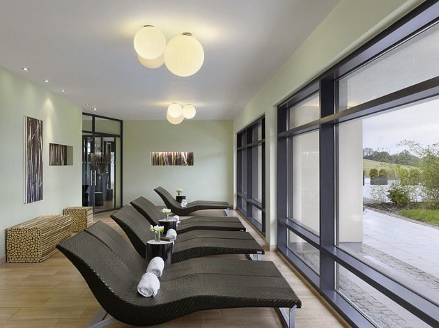 The relaxation room within the Water Mint Thermal Suite
